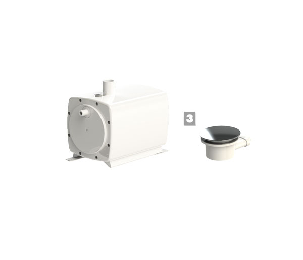 Sanifloor 3 (Shower Tray) Grey Water Pump