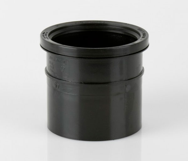 110mm Black Push Fit to Solvent Coupler