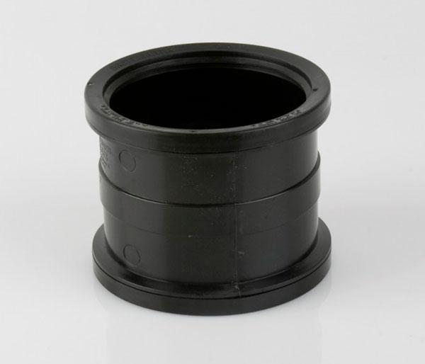 110mm Black Push Fit Slip Coupler