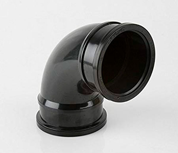 110mm Black Pushfit 92.5\' Double Socket Elbow
