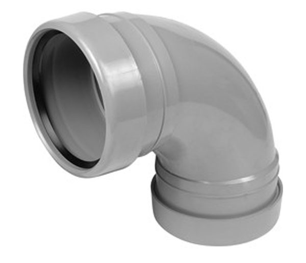 110mm Light Grey Pushfit 90\' Knuckle D/Socket