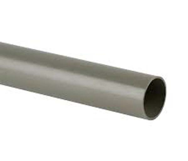 110mm Olive Grey Solvent 3m Pipe Plain Ended