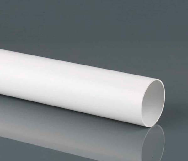 110mm White Solvent 3m Pipe Plain Ended