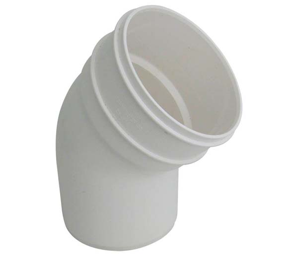 110mm White Solvent 135\' S/Socket Bend