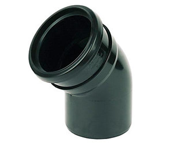 160mm Black 112.5\' Single Socket Bend