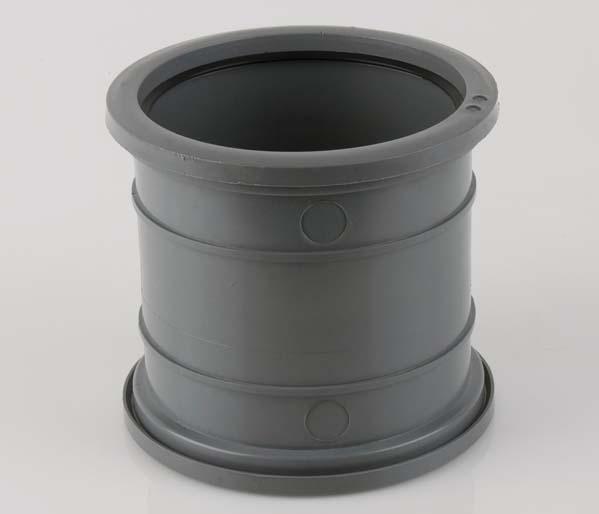 160mm Grey Pipe Connector Pushfit/Pushfit
