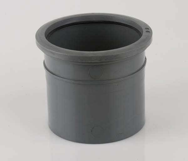 160mm Grey Pipe Connector Solvent/Pushfit