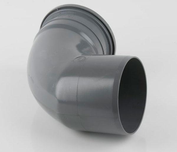 160mm Grey 92.5\' Single Socket Bend