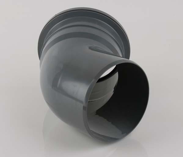 160mm Grey 135\' Single Socket Bend