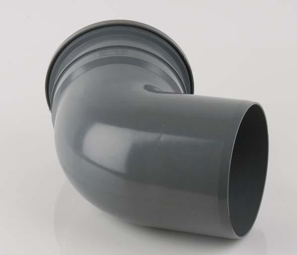 160mm Grey 112.5\' Single Socket Bend