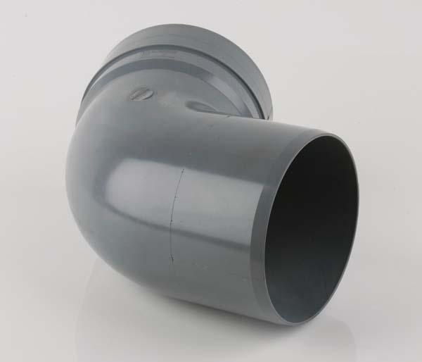 160mm Grey Offset Bend 112\' Solvent/Spigot