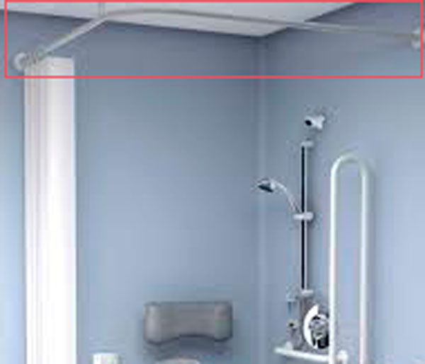 T&L Care Heavy Duty Curtain Rail