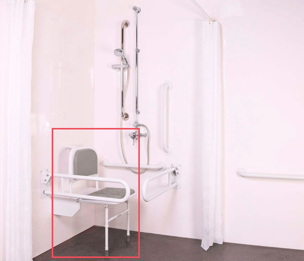T&L Care Doc M Shower Seat White & Grey