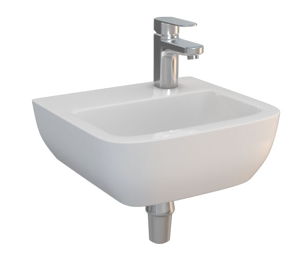 T&L Portsmouth Basin 40cm 1 Tap Hole Right