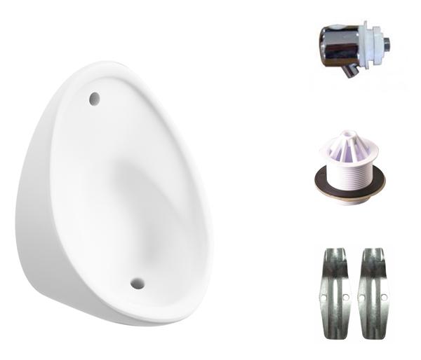 T&L Commercial 400mm Boxed Urinal Set (Exp)