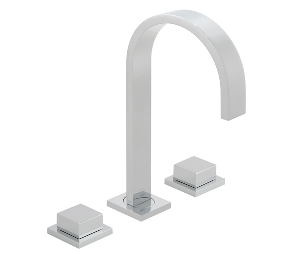 Geo Square 3 Hole Basin Mixer Exc Waste