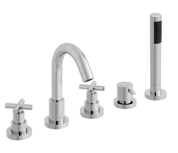 Elements 5 Hole Bath Shower Mixer