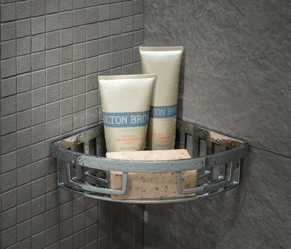 Shower Basket Removable Corner