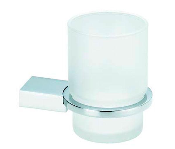 Violek Glamour Tumber Holder Frosted Glass