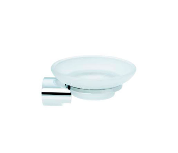 Violek Round Soap Dish Frosted Glass