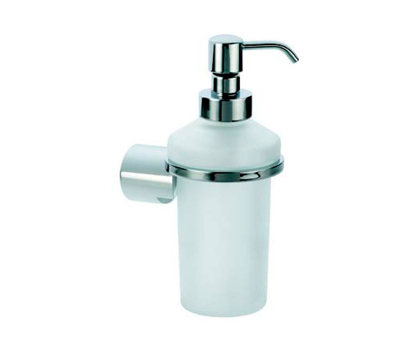 Violek Round Soap Dispenser Frosted Glass