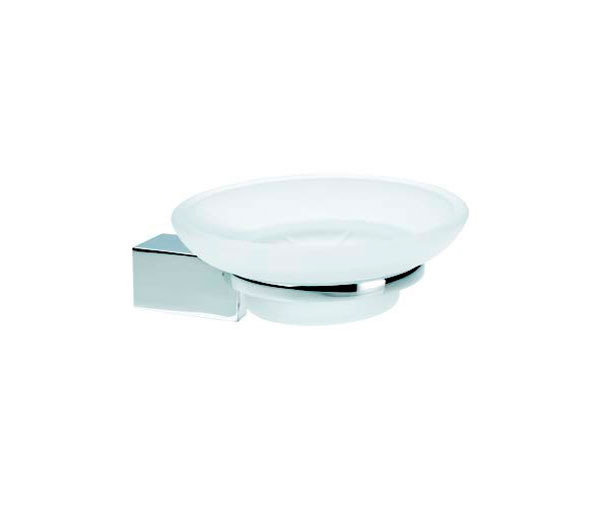 Violek Square Soap Dish Frosted Glass
