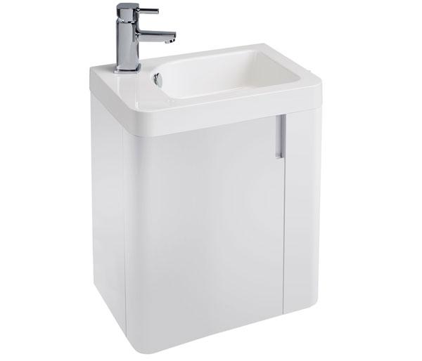 Cara 450mm Basin Unit White Gloss