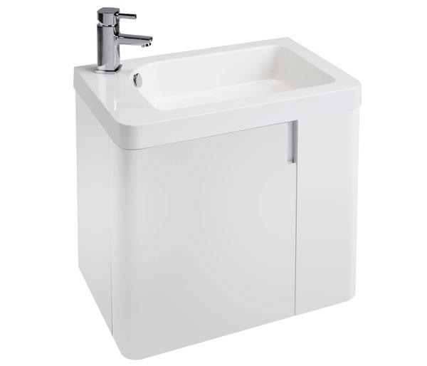 Cara 600mm Basin Unit White Gloss