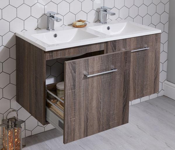 Lomond 1200mm Double Basin Unit Truffle Oak