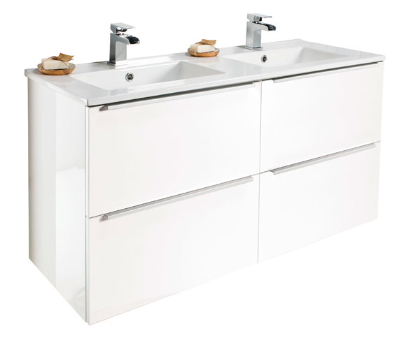 Talla Vanity Unit 1200x470mm Gloss White