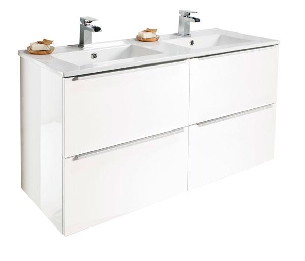 Talla 1200mm Double Basin Unit White Gloss
