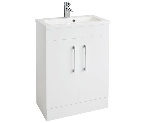 Lomond 600mm Basin Unit White Gloss