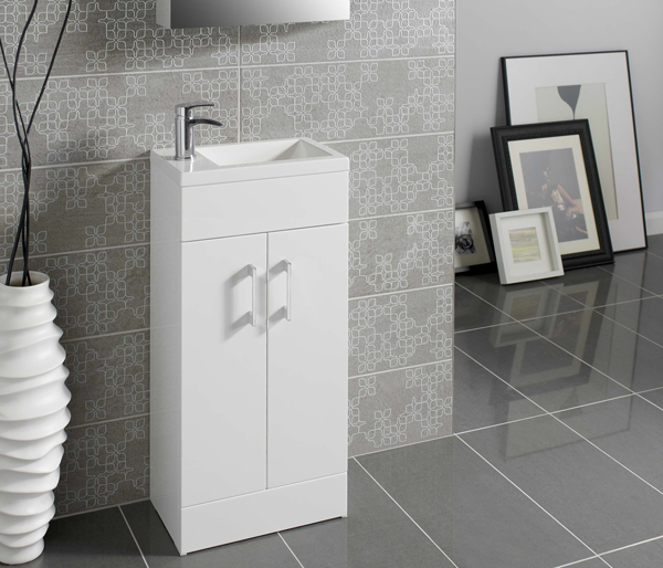 Lomond 400mm Basin Unit White Gloss
