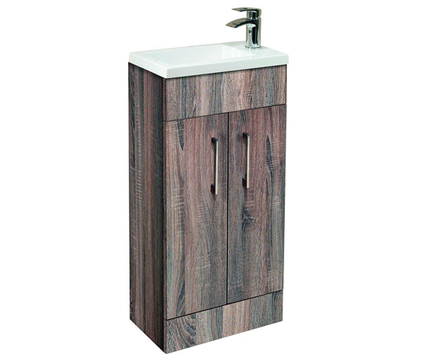 Lomond 400mm Basin Unit Truffle Oak