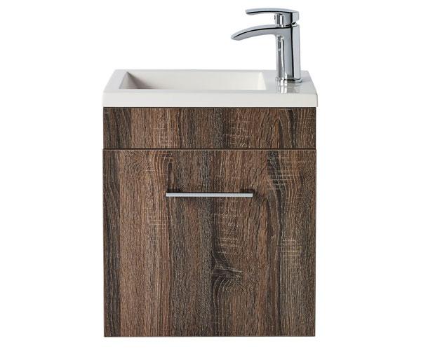 Lomond 400mm Basin Unit Truffle Oak