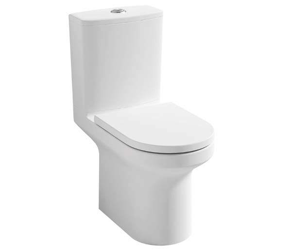 Alma Rimless Close Coupled Toilet + Seat