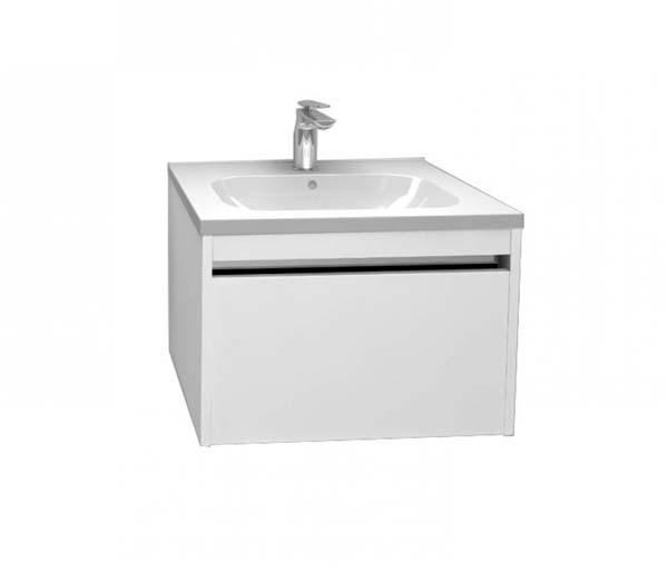 Alma 600mm Basin Unit Gloss White