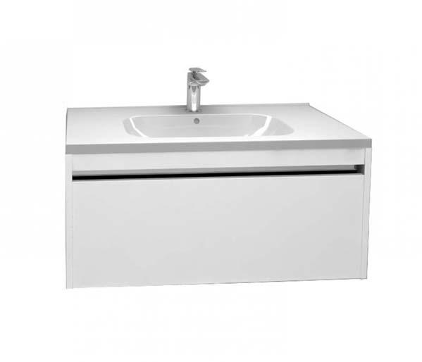 Alma 900mm Basin Unit Gloss White