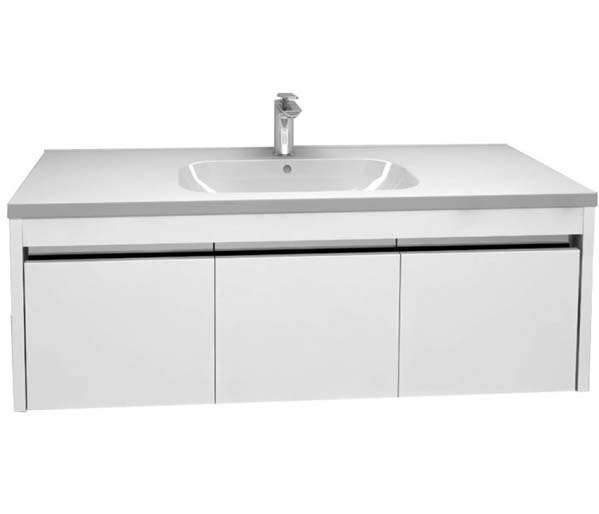Alma 1200mm Basin Unit Gloss White