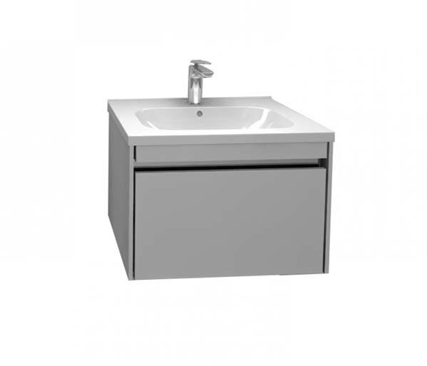 Alma 600mm Basin Unit Gloss Grey