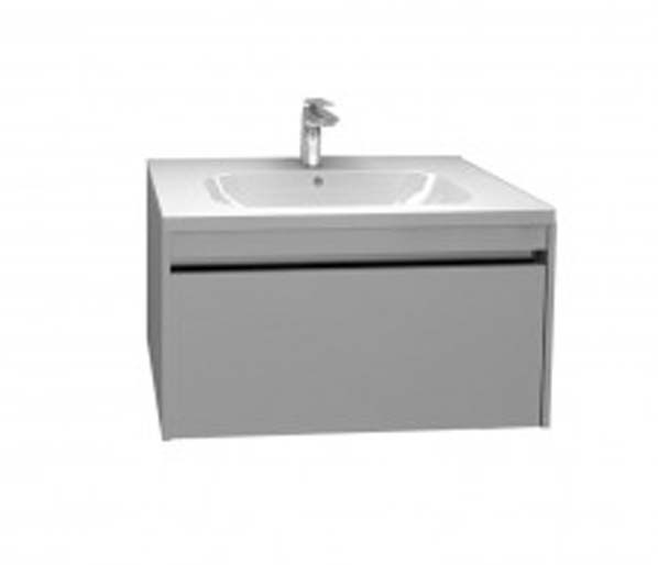 Alma 750mm Basin Unit Gloss Grey