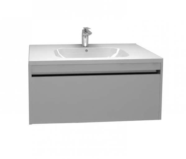 Alma 900mm Basin Unit Gloss Grey