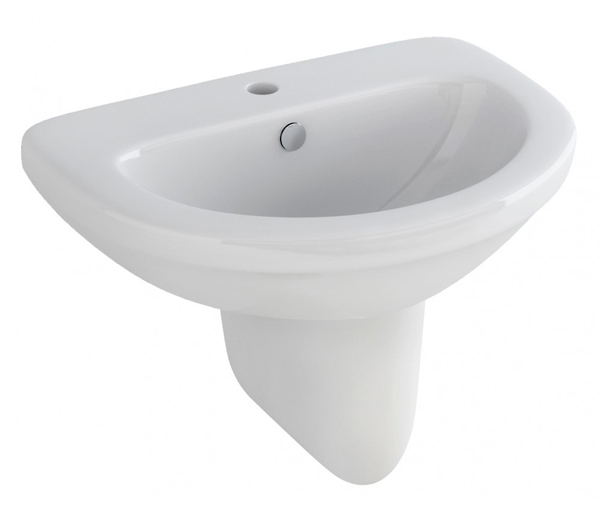 Ivo Basin with Semi Pedestal 620x470mm