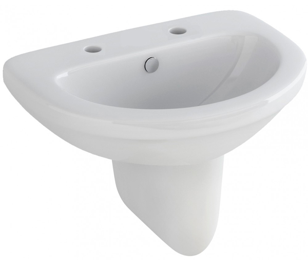 Ivo Basin with Semi Pedestal 560x460mm