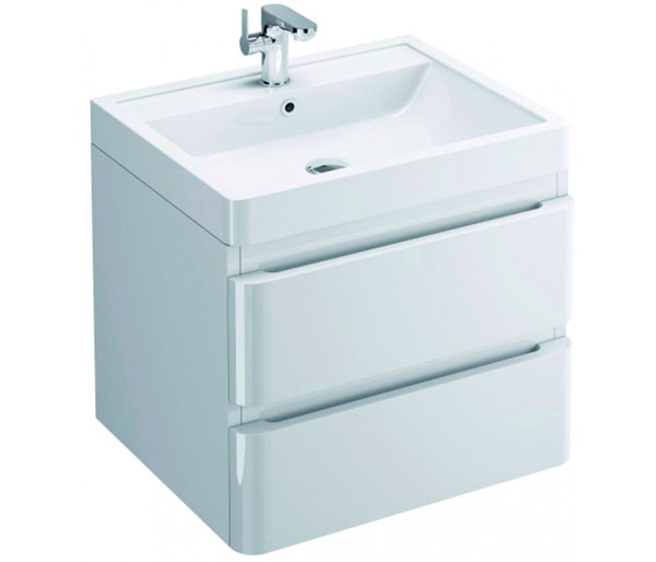 Flite Vanity Unit 600x480mm Gloss White
