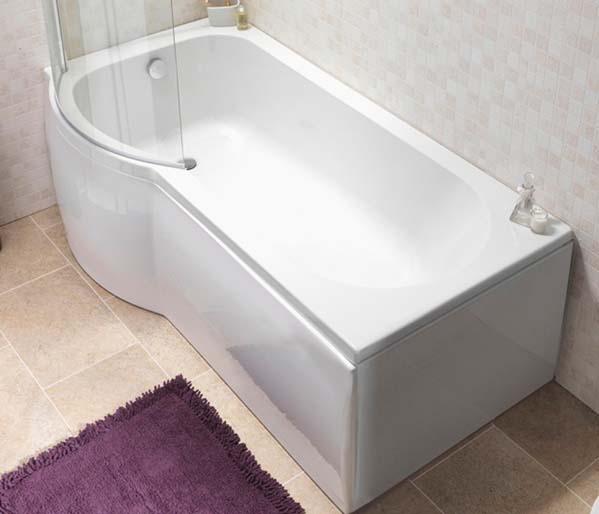Curve Shower Bath 1675 Left Hand