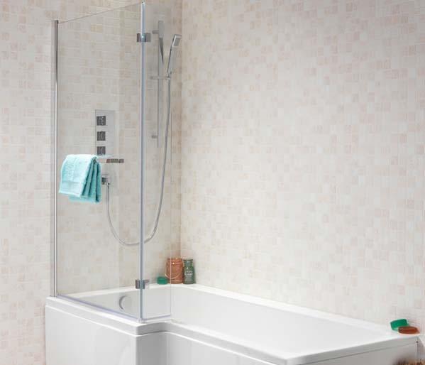 SQR Shower Bath 1500mm Left  Hand