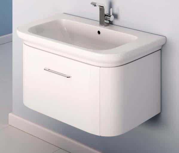 Grace 800mm Basin Unit White Gloss