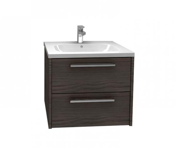 Arco Vanity Unit 600x455mm Graphite Fleetwood