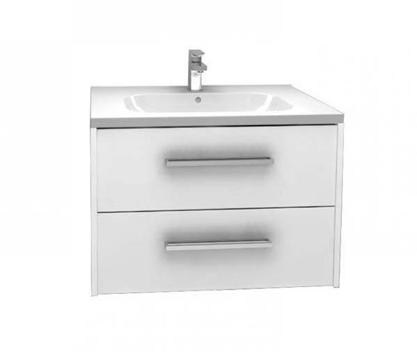 Arco Vanity Unit 750x455mm Gloss White